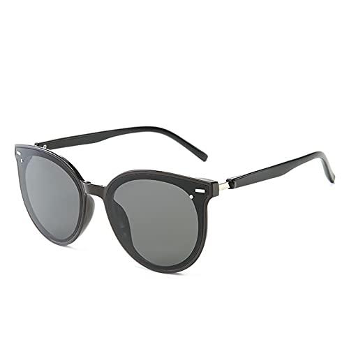Gafas de sol polarizadas para hombres y mujeres, gafas de sol de protección UV para deportes de equitación, gafas al aire libre, negro/gris,