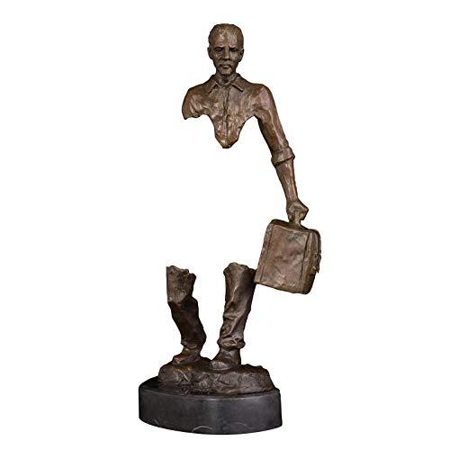 CJF123 Bronze Mann Statue Skulptur Walking Statue Skulptur Figur Skulptur Home Decoration Statue Skulptur-Multicolor