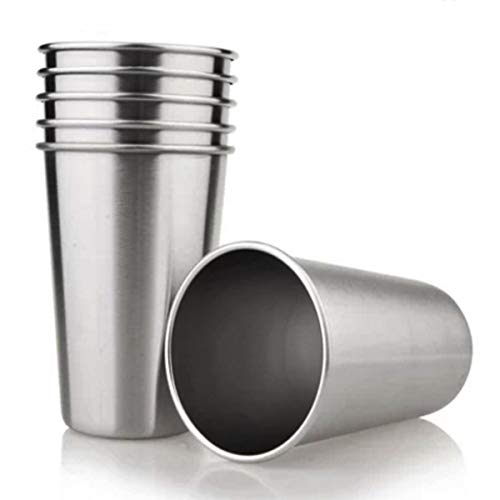 Tosnail 6 Pack Stainless Steel Pint Cups Water Tumblers - Great for Kid Toddler Baby Sanitary - 16...