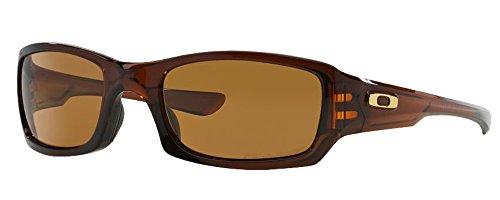 Oakley Men's Fives Squared Sunglasses (Brown Frame Polarized Brown Lens, Brown Frame Polarized Brown Lens)