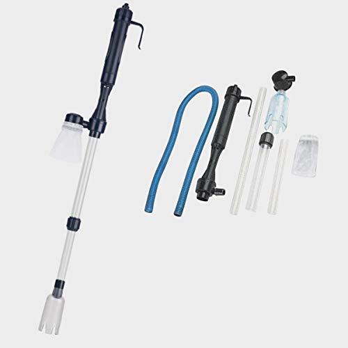 Felenny Kit de Limpiador de Grava para Acuario Eléctrico Bomba de Sifón a Batería Filtro de Agua Limpiador de Acuario Tanque de Peces Aspiradora Herramienta de Limpieza de Sifón