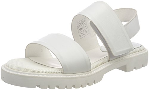 G-STAR RAW Damen Core Strap Flat Slingback Sandalen, Weiß (White 110), 37 EU