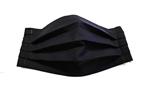 Sommerspezial Behelfsmaske Mund Nasen Bedeckung Alltagsmaske Community Maske Multifunktionstuch, Staubmaske Atem-, Staub-, Luft- 100% Baumwolle mit Nasenbügel für Brillenträger dunkelgrau waschbar