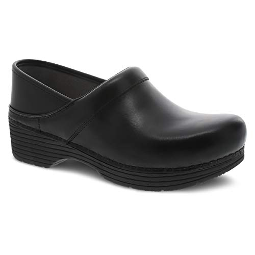 Dansko Women's LT Pro Black Leather Clogs 9.5-10 M US