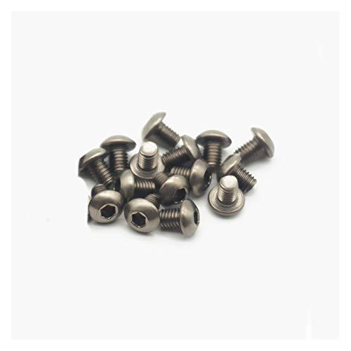 Kits 20pcs Tornillos Titanio Tornillos Hex Socket Talts Truss GR2 TA2 M2 M2.5 M3 x 3 4 5 6 8 10 12 14 15 16 18 20 25 30 35 40 45 50 55mm inoxidable (Dimensions : M2x10mm 20pcs)