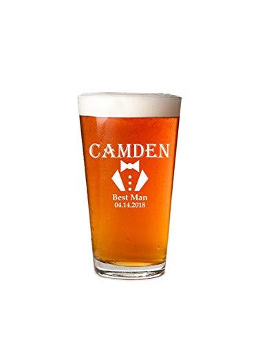 Vaso de cerveza personalizable, de 16 onzas, para cerveza personalizable, vasos de cerveza grabados, vasos de cerveza, vasos de cerveza grabados, vasos de cerveza, vasos de cerveza de cristal transparente, personalizables