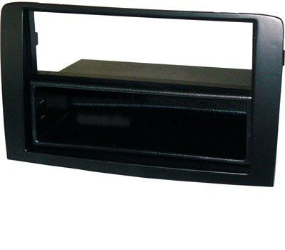 Mascherina autoradio 1 din con cassetto rimovibile colore Nero. Vedi'DESCRIZIONE' per la compatibilità veicoli.