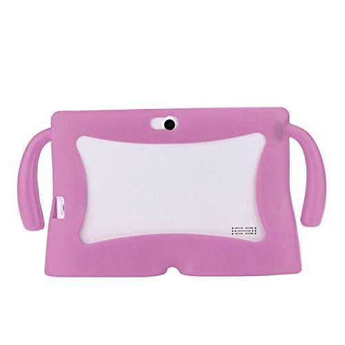 Universal Tablet Case 7 Inch Kids Funda Protectora de Gel de Silicona para 7 Pulgadas Android Tablet Q88 para Yuntab 7 Inch A23 A3-Rosa