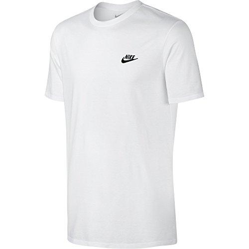 Nike M Nsw Tee Club Embrd Ftra, Camiseta de Manga Corta para Hombre, Blanco (White / Black), 2XL