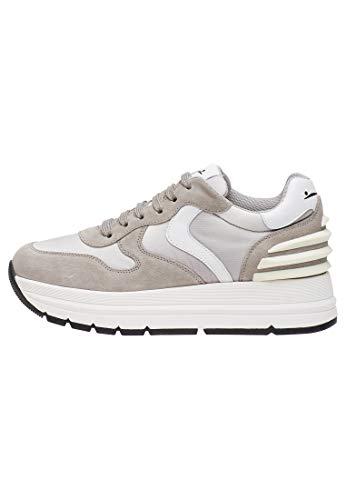 VOILE BLANCHE Maran Power-Sneaker de terciopelo y tejido técnico Gris Size: 40 EU