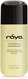 RAYA Calendula Astringent with AHA 6 oz (G-206) | Glycolic Facial Toner for Combo and Partially Oily Skin Prone to Break-O...