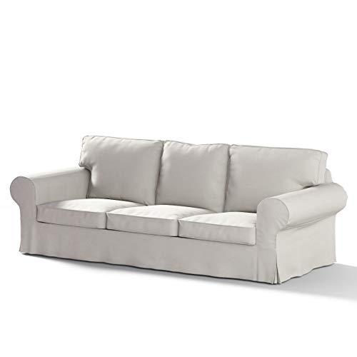 Dekoria Ektorp 3-Sitzer Schlafsofabezug, ALTES Modell Sofahusse passend für IKEA Modell Ektorp hellgrau