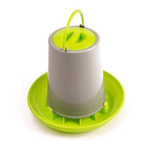 Bronnbay Automatischer Futterspender für Geflügel/Hühner, Kunststoff, 1,5 l, Grün/Grau