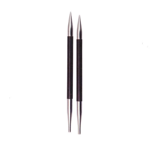 Knitter's Pride Karbonz Interchangeable 4.5-inch (11.5cm) Long Tip Knitting Needles; Size US 4 (3.50mm) 110303 by Knitter's Pride