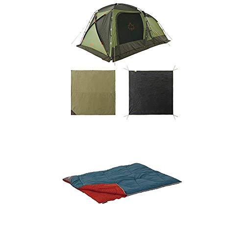 ロゴス(LOGOS) テントチャレンジセットneos PANELスクリーンドゥーブル XL-BJ + ミニバンぴったり寝袋・-2(冬用)