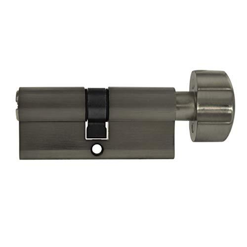 1x Zylinderschloss 60 mm 30/30 mit Knauf KD (mit Not- und Gefahrenfunktion) inkl. 5 Schlüssel