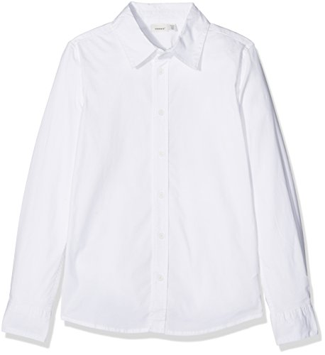 NAME IT Jungen NITFRED LS Slim Shirt M NMT NOOS Hemd, Weiß (Weiß Bright White), 116