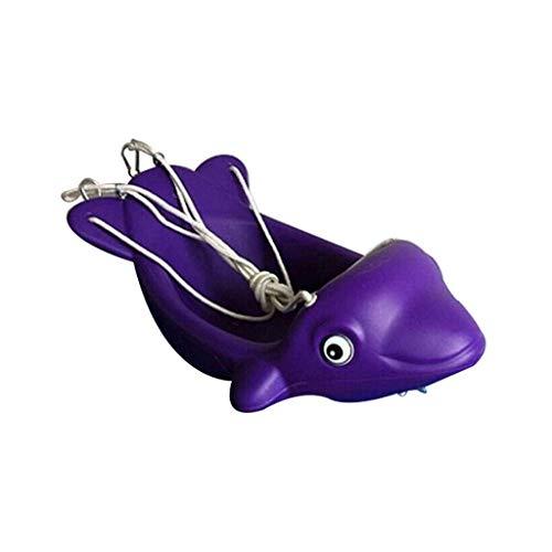 TETHYSUN Hammock Hamaca Doble Pescados Lindos Swing para niños Silla de bebé para Exteriores Suspensión al Aire Libre Asiento Seguro y Silla de Swing Duradero (Color : Purple)