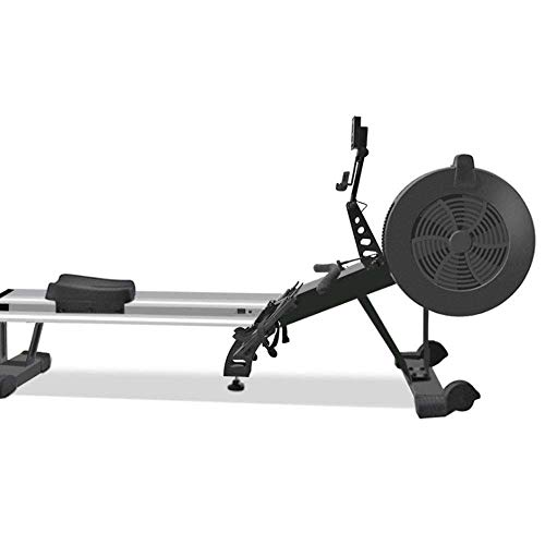 FYYDNR Máquina de Remo, Monitor LCD Diseño Plegable Resistencia al Aire dinámico del Tono Muscular Neto Asiento de Acero Peso 37 kg-Rieles 225 * 58, 5 * 105cm