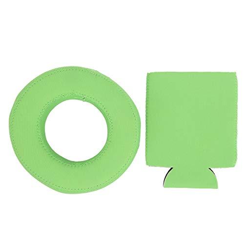 Sostenedor Flotante de la Bebida de la Piscina del Posavasos Flotante del Tenedor de la Bebida del Neopreno para la Piscina(Verde)