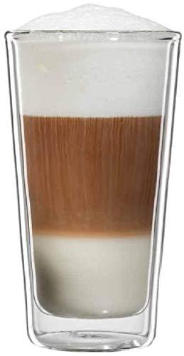 bloomix Milano Latte Macchiato 300 ml, doppelwandige Thermo-Kaffeegläser im 2er-Set