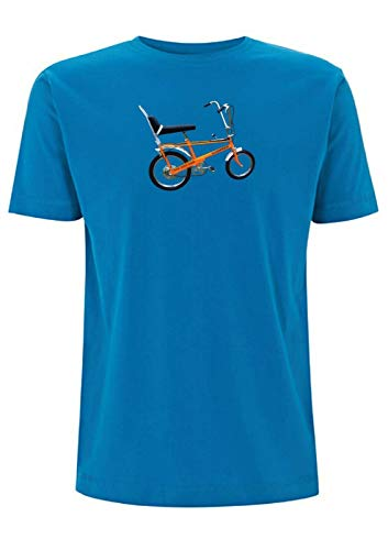 Tiempo 4 Tee Raleigh Chopper Inspirado MK1 T Shirt Ciclismo 1970s Vintage...