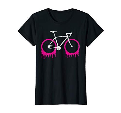 Damen Rennradfahrerin Rennvelo Fahrradfahrerin T-Shirt
