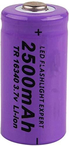 1 Pieza 16340 2500 Mah 3,7 v baterías Recargables de Iones de Litio para Linterna Faro LED luz de Juguete cámara de Control Remoto