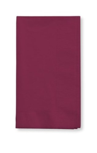 Creative Converting 50 Gorgeous Burgundy Burgandy Dinner Napkins for Wedding, Party, Bridal or Baby Shower, Disposable Bulk Supply Quality Product