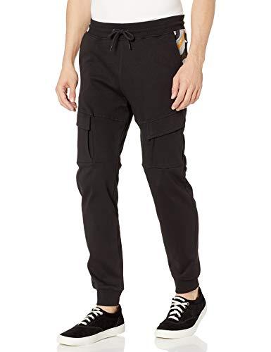 Southpole Men's Utility Fashion Fleece Jogger Pants, Black Body, Small