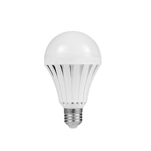1 Unid 5W LED Bombillas de Emergencia E27 B22 Bombilla Lámpara de Iluminación Recargable 220 V Casa Mágica Camping Caza Luz de Emergencia Al Aire Libre(Color:white)