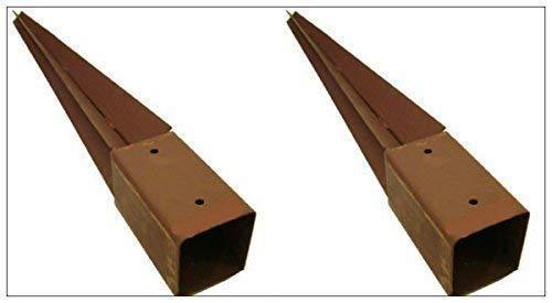 garden mile résistant cloison Post Support 750mm x 75mm Pointe Soutien Rouille résistant métal Piquet 7.6cm
