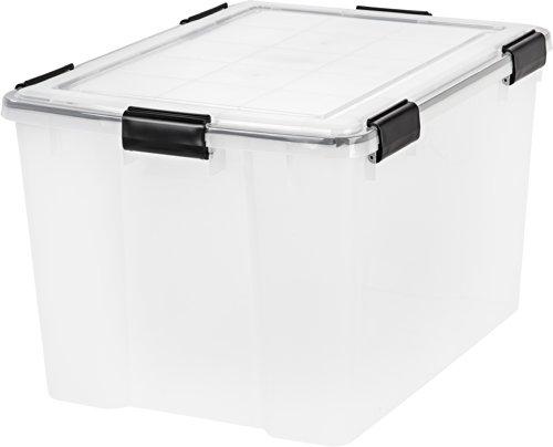 IRIS USA, Inc. UCB-LDD WEATHERTIGHT Storage Box, 74 Quart, Clear
