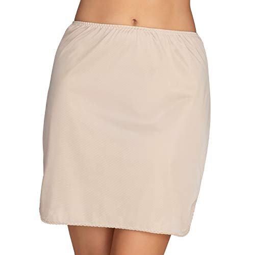 "Vanity Fair Women's Tricot Double Slit Half Slip 11717, Damask Neutral, Small (18"" Length)"