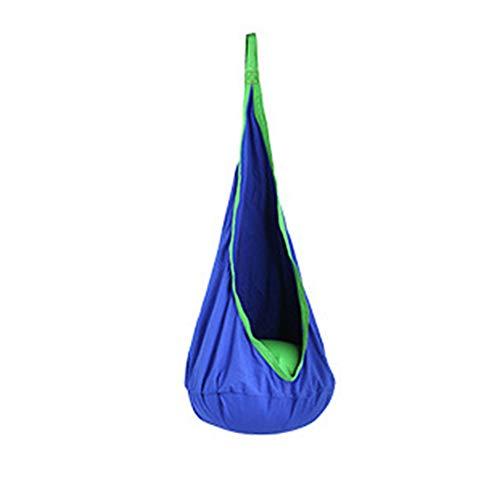 Hangstoel, boomhangstoel, ritssluiting Binnendak Binnenplaats Buiten Ruimtebesparend Home Swing Pod Kinderen Comfortabel,Dark blue