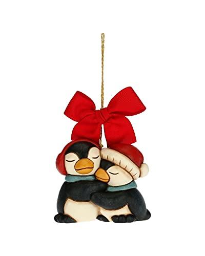 THUN - Decoración para árbol de Navidad y Pareja de pingüinos -...