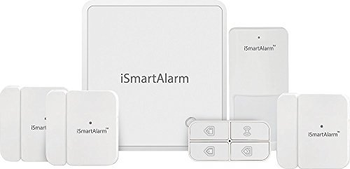 iSmartAlarm Home Security Package For More Doors Windows Wireless DIY No Fee IFTTT Alexa Compatible iOS Android App iSA8, White
