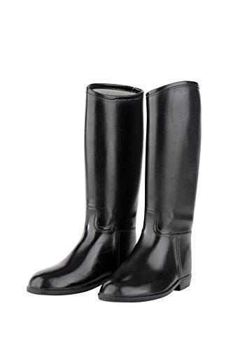 Rojo caballo Junior Childs Tall botas de equitación para todos los tamaños de goma PVC cartucho negro, negro