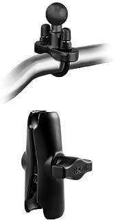 【おすすめセット】RAM MOUNTS(ラムマウント) U字クランプ オートバイ バーハンドル用 + バイク用標準アーム 約9.5cm オートバイ 二輪用 セット