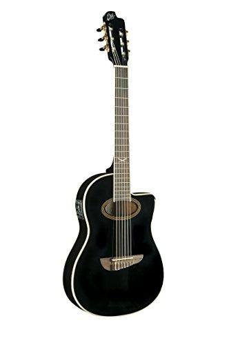 EKO Guitars Nxt Nylon CW EQ, Chitarra Acustica, Nero (Black)