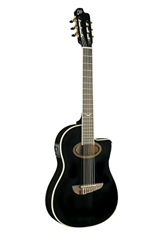 EKO Guitars 06217039 NXT Series Guitarra Clásica Acústica-Eléctrica, Negro
