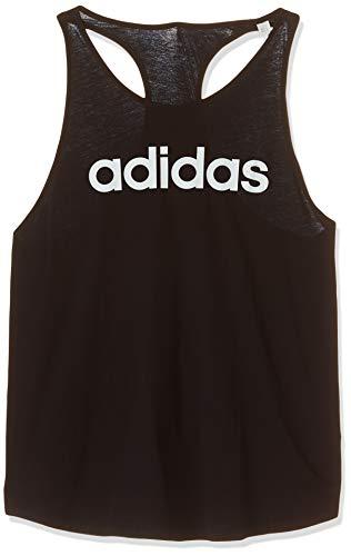 adidas Essentials Linear Tk Camiseta de Tirantes, Mujer, Negro (Black/White), S