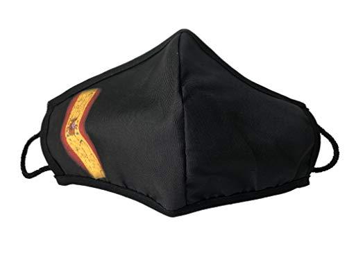 Mascarilla homologada negra bandera de España diseño elegante