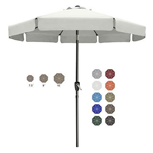 10FT Outdoor Garden Table Umbrella Patio Umbrella Market Umbrella with Push Button Tilt for Garden, Deck, Backyard and Pool, 8 Ribs 13+Colors,Light Beige