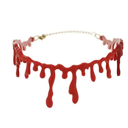 Halloween Horror Blood Drip Necklace Decoration Costumes Bloody Choker Necklace Scary Party Favors Party Accessories