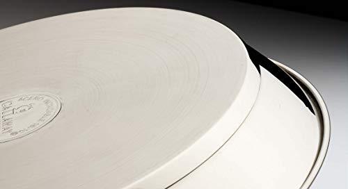 Callaway Paellera de INOX Antiadherente, 32 cm, Acero Inoxidable, Plateado/Negro, 6