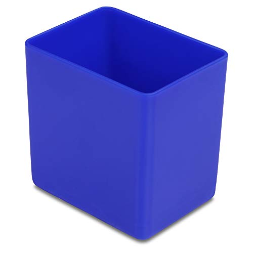 1a-TopStore 10 STK. Einsatzkästen Einsatzboxen Schubladen-Einsatzkasten Sortierboxen, 32 Größen, 5 Farben (blau, 53x40x54 mm)