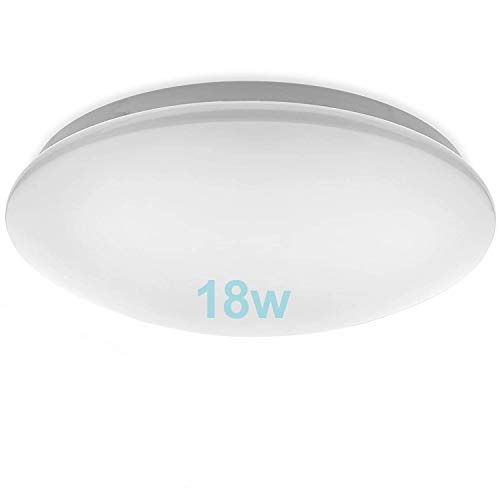 Lámpara LED de Techo Moderna 18W,TTKY Plafón Led Redonda Ultra Delgado Downlight Blanco Cálido...
