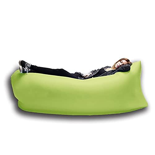 NAINAIWANG Sofa Hinchable del Aire del Ocioso Portable Tumbona Inflable Sofá de Aire Hamaca portátil Prueba de Agua Diseño para Viajar Acampar Senderismo Piscina y Partidos de la Playa
