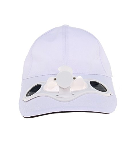 Solaration 7001 White Fan Baseball Golf Hat